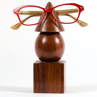 Handmade Geometric Eyeglass Holder (India)