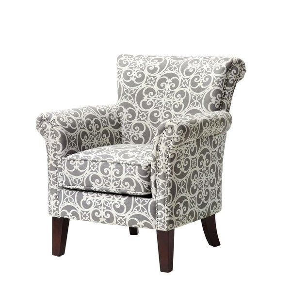 Brooke Grey Birch Wood Accent Chair Free Shipping Today