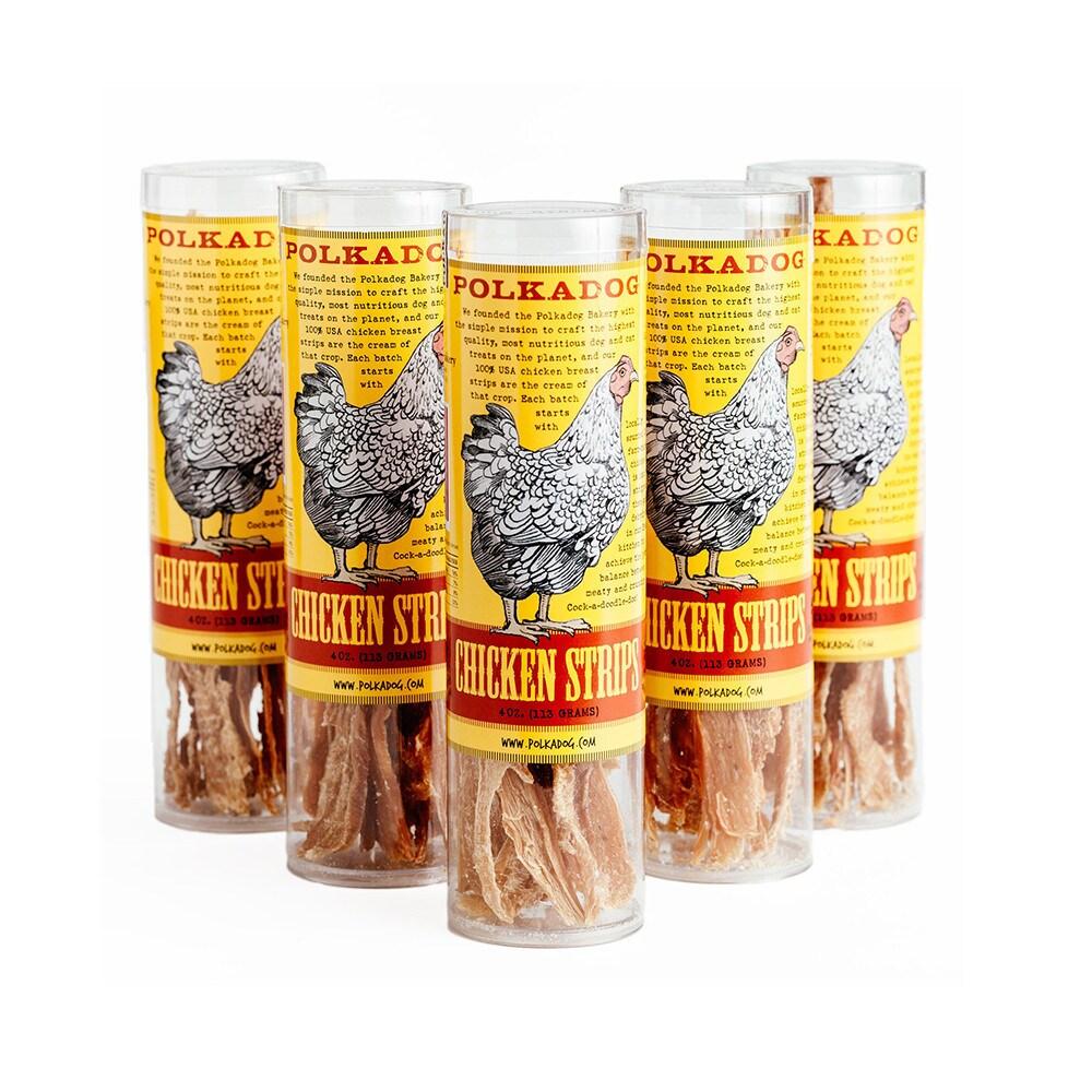 Pioneer Polka Dog Chicken Strip Jerky 4-ounce (4oz Tube),...
