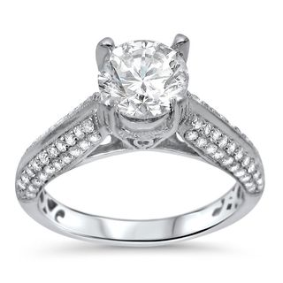 Noori 18k White Gold 1 3/5ct TDW Diamond Engagement Ring (G-H, SI1-SI2)