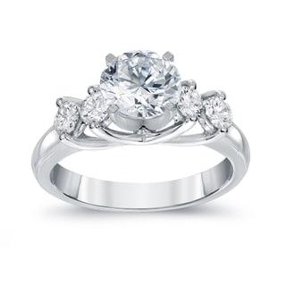 Auriya 14k White Gold 1 3/4ct TDW Five Stone Engagement Ring (G-H, SI2-SI3)