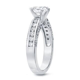 Auriya 1 1/2ctw Vintage Round Diamond Engagement Ring 14k Gold
