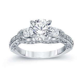 Auriya 14k White Gold 2ct TDW Round Cut Diamond Engagement Ring (G-H, SI2-SI3)