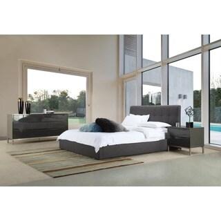 Aurelle Home Grey Upholstered Storage Bed