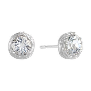 Sunstone Sterling Silver Swarovski Crystal Cupcake Swirl Earrings