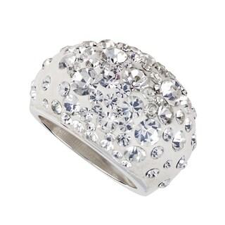 Sunstone Sterling Silver Crystal Resin Domed Ring (Size 7)