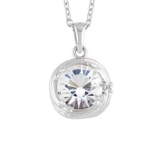 "Sunstone Sterling Silver Swarovski Crystal Cupcake Swirl Pendant Necklace, 18"""
