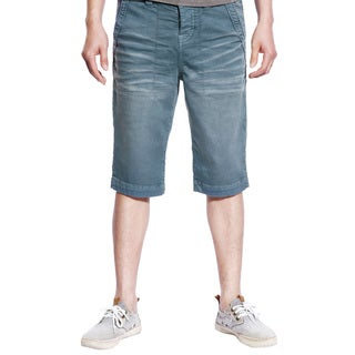Stitch's Mens Casual Canvas Shorts Trousers Work Pants School (Light Blue)