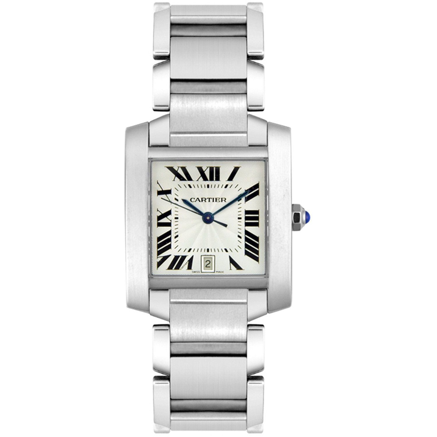 Cartier Men's W51002Q3 'Tank' Automatic Silver Stainless ...