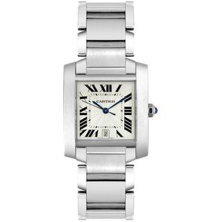 Cartier Men's W51002Q3 'Tank' Automatic Silver Stainless steel Watch