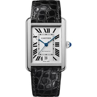 Cartier Men's W5200027 'Tank Solo' Automatic Black Leather Watch