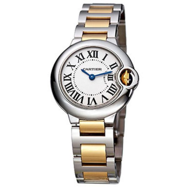 9cd8385156654 Shop Cartier Women s W69007Z3  Ballon Bleu  18k Gold Two-Tone Stainless  steel Watch - Free Shipping Today - Overstock - 10283430