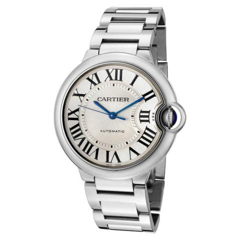 Cartier Women's W69011Z4 'Ballon Bleu' Automatic Silver Stainless steel Watch