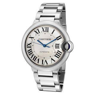 Cartier Women's W69011Z4 'Ballon Bleu' Automatic Silver Stainless steel Watch