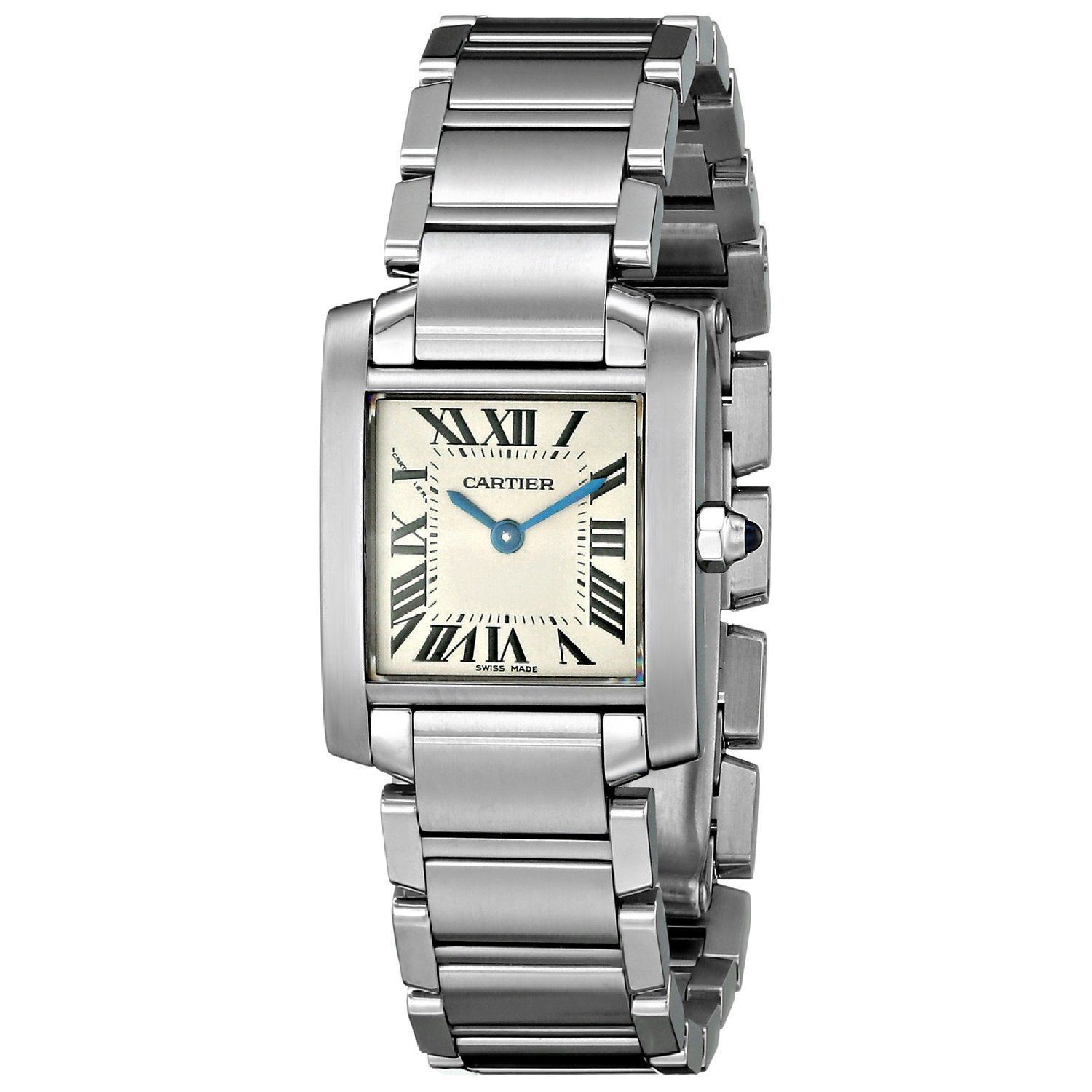 Cartier Womens W51008Q3 Tank Silver Stainless steel Watch Cartier Womens W51008Q3 Stainless steel