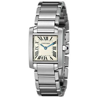 Cartier Women's W51008Q3 'Tank' Silver Stainless steel Watch