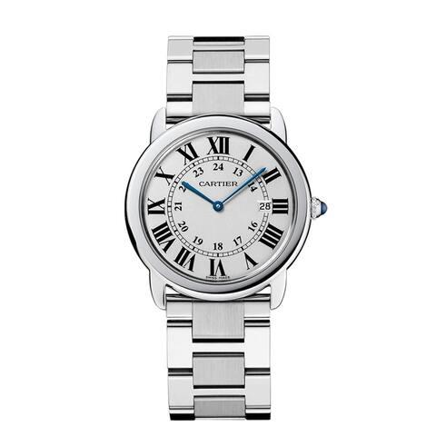 Cartier Men's W6701005 'Rondo Solo' Stainless Steel Watch