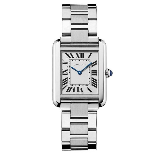 b299f00a7277 Shop Cartier Women s  Tank Solo  Stainless Steel Watch - Free Shipping  Today - Overstock - 10283442