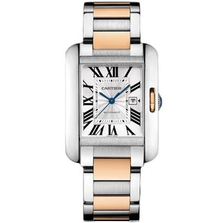 Link to Cartier Women's W5310037 'Tank Anglaise' 18kt Rose Gold Automatic Two-Tone Stainless Steel Watch Similar Items in Men's Watches