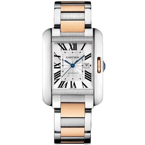 Cartier Women's W5310037 'Tank Anglaise' 18kt Rose Gold Automatic Two-Tone Stainless Steel Watch