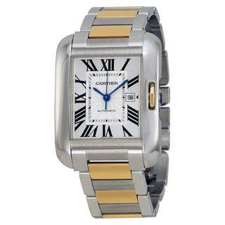 Cartier Women's W5310047 'Tank Anglaise' 18kt Yellow Gold Automatic Two-Tone Stainless Steel Watch
