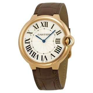 Cartier Men's W6920083 'Ballon Bleu' Automatic Brown Leather Watch