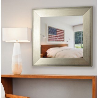 American Made Rayne Brushed Silver Vanity Wall Mirror