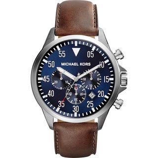 Michael Kors Men's MK8362 'Gage' Chronograph Brown Leather Watch
