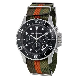 Michael Kors Men's MK8399 'Everest' Chronograph Green Nylon Watch