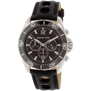 Michael Kors Men's MK8419 'Winward' Chronograph Black Silicone Watch