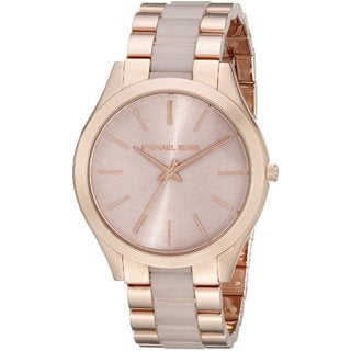 Michael Kors Women's 'Slim Runway' Rose-Tone Stainless Steel Watch