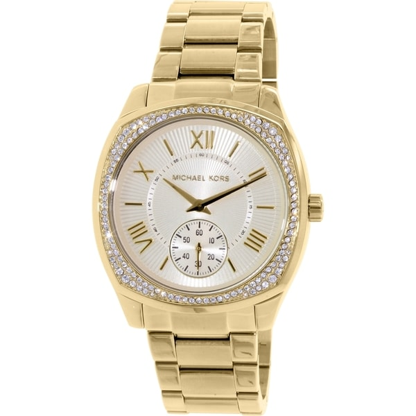 Michael Kors Women's 'Bryn' Crystal Gold-Tone Stainless Steel Watch