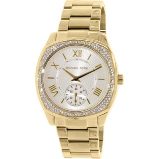 Michael Kors Women's MK6134 'Bryn' Crystal Gold-Tone Stainless Steel Watch