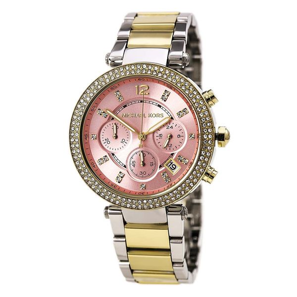 Michael Kors Women's MK6140 'Parker' Chronograph Two Tone Stainless Steel Watch