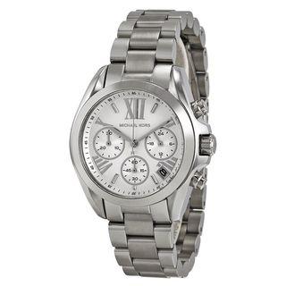 Michael Kors Women's MK6174 'Mini Bradshaw' Chronograph Stainless Steel Watch