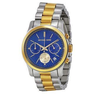 Michael Kors Women's MK6165 'Runway' Chronograph Two-Tone Stainless Steel Watch