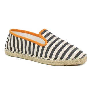 Fahrenheit Women's Mitty-04 Striped Canvas Women's Espadrille Flats