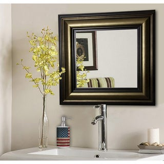 American Made Rayne Stepped Antiqued Vanity Wall Mirror - Bronze