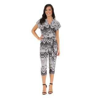 24/7 Comfort Apparel Women's Gray Scale Jumpsuit