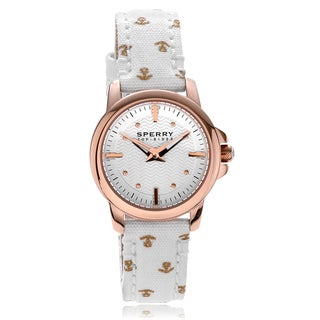 Sperry Women's 'Halyard' Print Canvas Strap Watch
