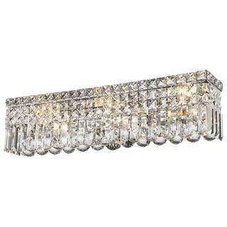Glam Art Deco Style 6-light Chrome Finish Crystal Strand Wall Vanity Light|https://ak1.ostkcdn.com/images/products/10283602/P17398578.jpg?impolicy=medium