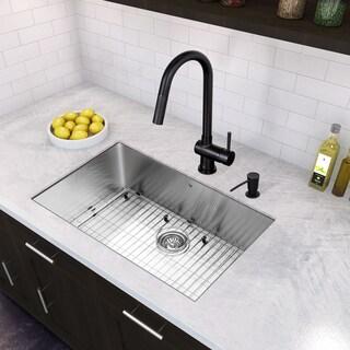 Attirant VIGO All In One 30 Inch Stainless Steel Undermount Kitchen Sink And Gramercy