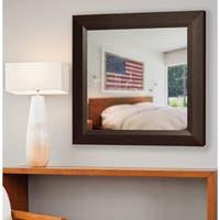 American Made Rayne Dark Walnut Wall/ Vanity Mirror - Dark Walnut