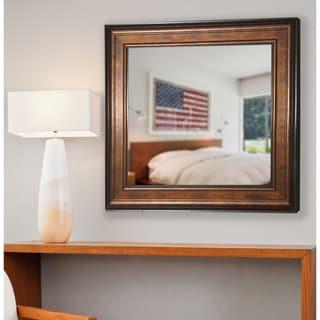 American Made Rayne Bronze and Black Vanity Wall Mirror