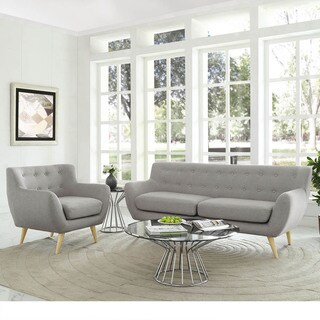 Remark 2-Piece Mid Century Living Room Sofa Set