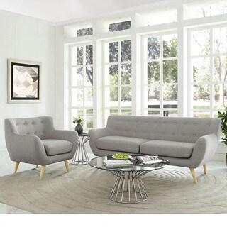 Remark 2 Piece Mid Century Living Room Sofa Set   2Piece