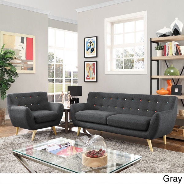 Remark 2 Piece Mid Century Living Room Sofa Set   2Piece   Free Shipping  Today   Overstock.com   17398745 Part 44