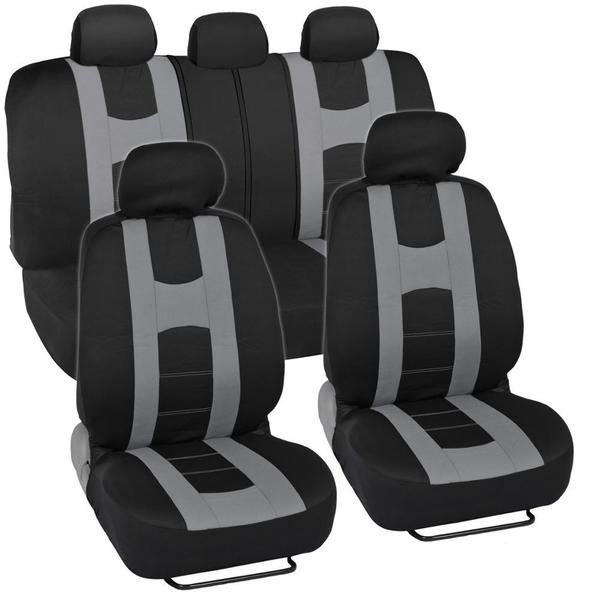 Shop Sporty Racing Style Black And Gray Seat Covers Free