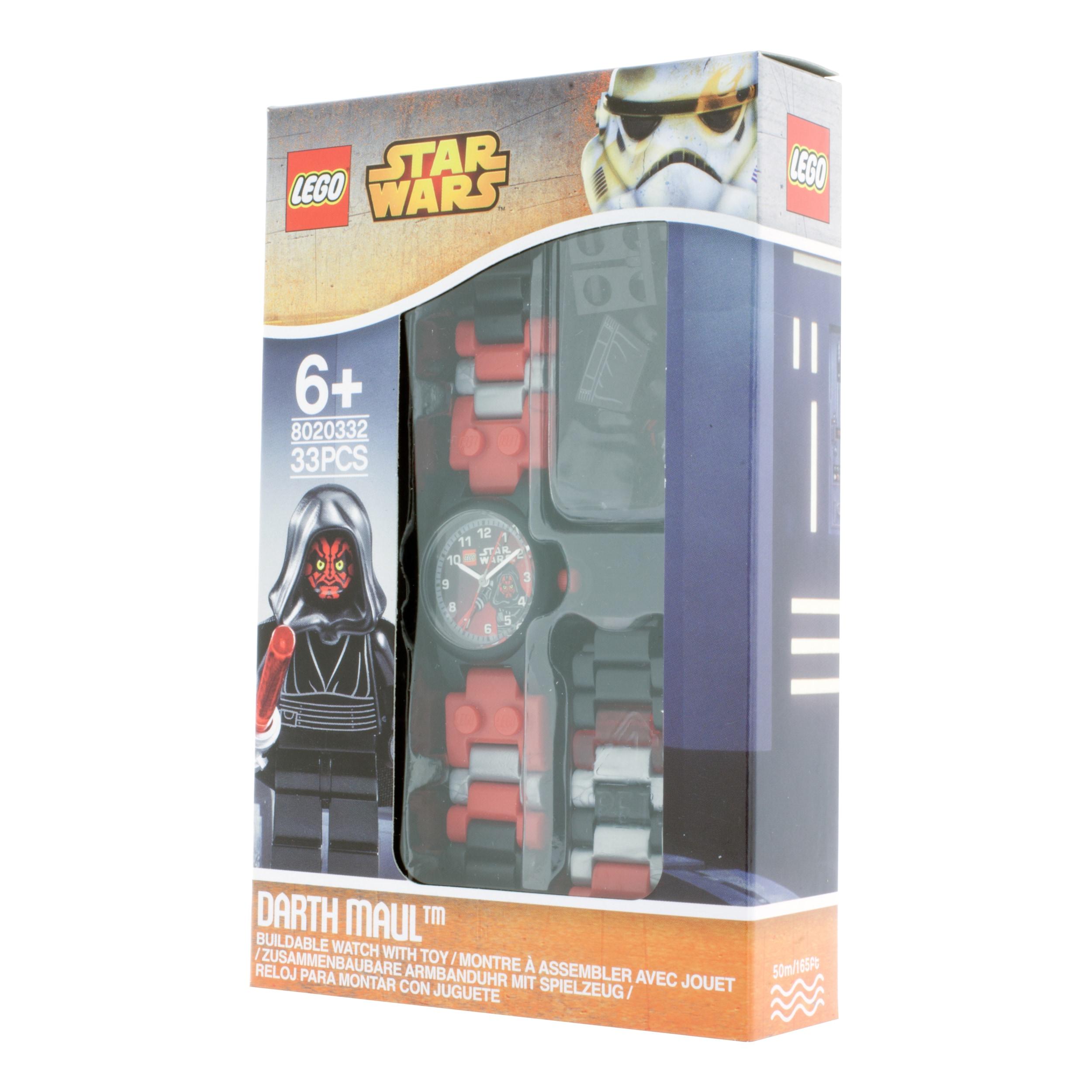 Lego Star Wars Darth Maul Kid S Minifigure Interchangeable Links Watch Overstock 10283713