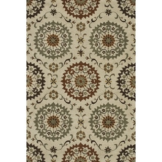Hand-tufted Wilson Ivory/ Sage Rug (9' x 12')